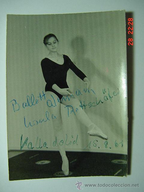 9285 BALLET ALEMAN FOTO CON AUTOGRAFO - FLAMENCO ARTISTA CABARET CANTANTE BAILAOR ETC (Cine - Autógrafos)
