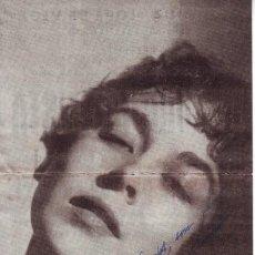 Cine - AUTÓGRAFO AURORA BAUTISTA - 27609305