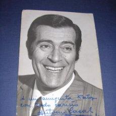 Cine: FOTO CON DEDICATORIA ORIGINAL ANTONIO CASAL 1970 - 18X12,5 CM. . Lote 33807752