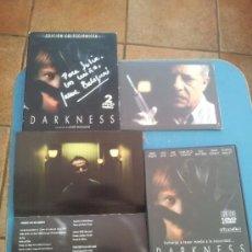 Cine: DARKNESS , JAUME BALAGUERÓ , FILMAX 2002 , EDICIÓN COLECCIONISTA AUTOGRAFIADA POR EL DIRECTOR . Lote 34190153