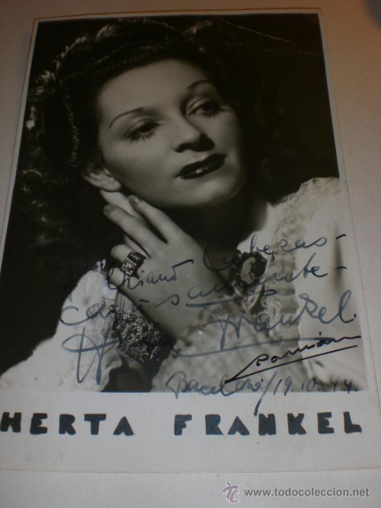 COMPAÑIA VIENESA-KAPS-JOHAM-HERTA FRANKEL- FOTO DEDICADA 1944 (Cine - Autógrafos)