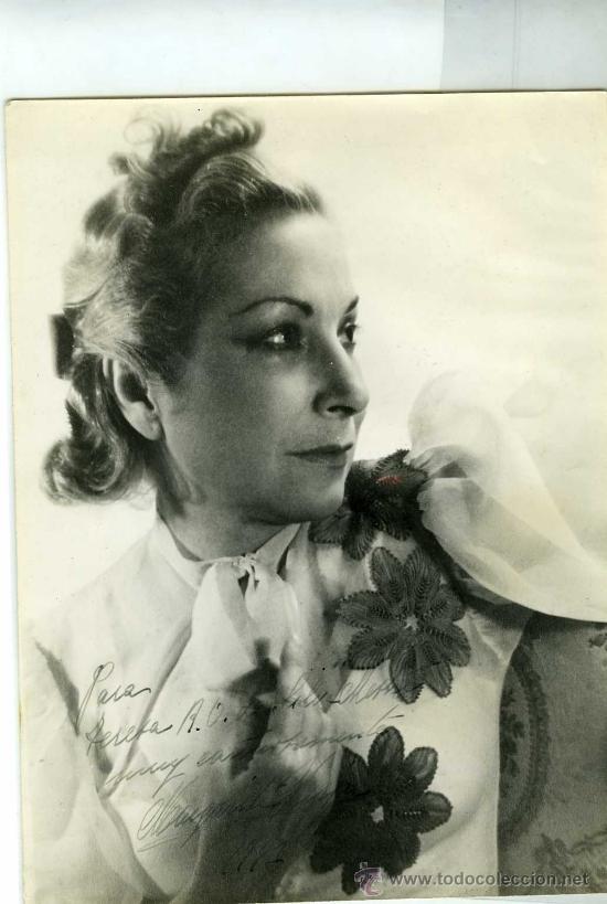 FOTOGRAFIA MARGARITA XIRGU ACTRIZ TEATRAL FIRMADA AÑO 1947 (Cine - Autógrafos)