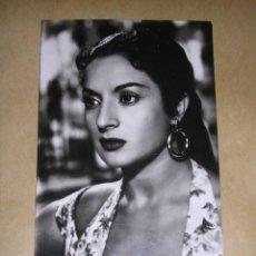 Cine: POSTAL FOTOGRAFICA LOLA FLORES , MARTE , PARTE POSTERIOR FELICITACION 1956 PEDRO LOLA Y ANTONIO . Lote 37686434