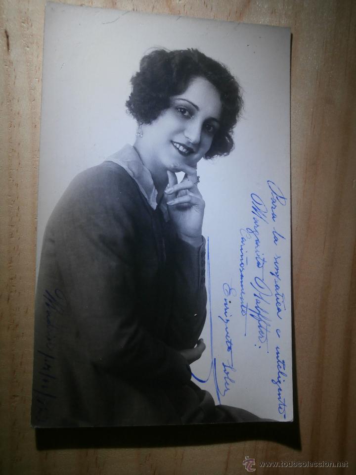 MUY ANTIGUO AUTÓGRAFO SOBRE FOTOGRAFÍA - ENRIQUETA SOLER - FAMOSA ACTRIZ AÑOS 20 - 1923 (Cine - Autógrafos)