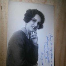 Cine: MUY ANTIGUO AUTÓGRAFO SOBRE FOTOGRAFÍA - ENRIQUETA SOLER - FAMOSA ACTRIZ AÑOS 20 - 1923. Lote 43064818
