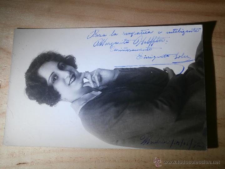 Cine: Muy antiguo autógrafo sobre fotografía - Enriqueta Soler - Famosa Actriz años 20 - 1923 - Foto 2 - 43064818
