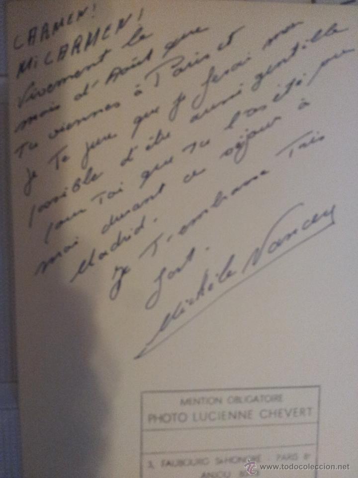 Cine: Autografo de la actriz Michele Nancey - Foto 2 - 43169190