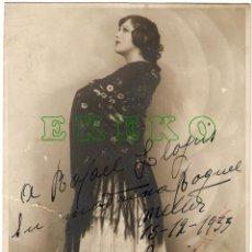 Cine: FOTOGRAFIA DE RAQUEL MELLER CON DEDICATORIA Y FIRMADA EN 1933. Lote 43189659