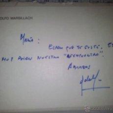 Cine: TARJETON MANUSCRITO CON AUTOGRAFO Y MEMBRETE DE ADOLFO MARSILLACH. Lote 43267741