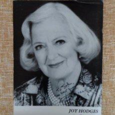 Cine: FOTOGRAFÍA DE PUBLICIDAD FIRMADA POR JOY HODGES. EN BLANCO Y NEGRO. AÑO 1990. MIDE 22X28 CM.. Lote 43350342