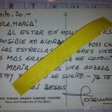 Cine: TARJETA POSTAL MANUSCRITA Y CON AUTOGRAFO DE JOSE MARIA POU. Lote 43555061