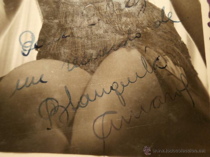 Cine: Muy antiguo autógrafo - Blanquita Amaro - Sobre fotografía artística - Actriz, Cantante y Bailarina - Foto 2 - 43609732