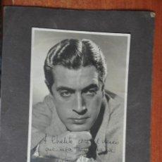 Cine: FOTOGRAFIA ORIGINAL CON DEDICATORIA MANUSCRITA DE ANTONIO CASAL EN EL AÑO 1943. Lote 44300341