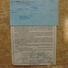 Cine: SHEILA MCKAY CONTRATO FIRMADO EL AÑO 1962, FEDERACIÓN AMERICANA DE ARTISTAS DE TELEVISIÓN Y RADIO. Lote 44364144