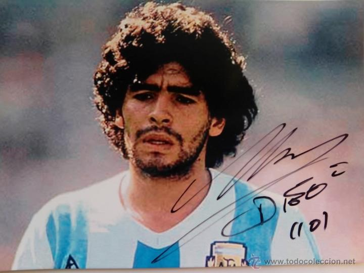 Resultado de imagen para autografo Maradona