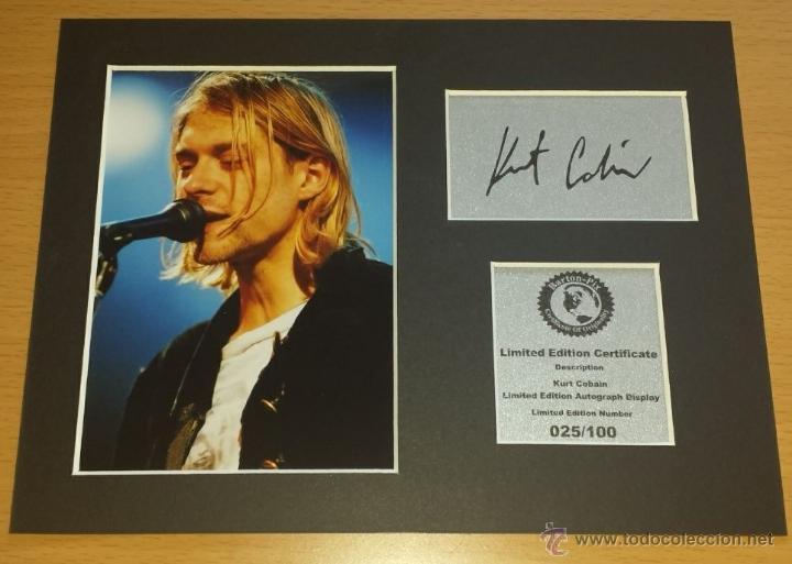 kurt cobain autógrafo + foto + certificado mas - Comprar Autógrafos ...