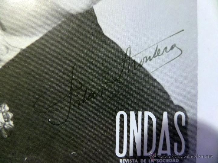 Cine: Pilar Montero, fotografia- folleto de la revista ONDAS con autògrafo, medidas aprox. 12x16 cm. - Foto 2 - 50480221