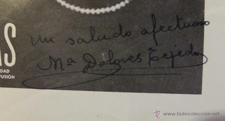 Cine: Mª Dolores Tejeda, fotografia- folleto de la revista ONDAS con autografo, medidas aprox. 12x16 cm. - Foto 2 - 50480744