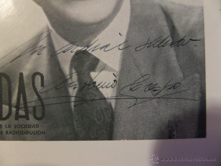 Cine: Antonio Crespo, fotografia- folleto de la revista ONDAS con autografo, medidas aprox. 12x16 cm. - Foto 2 - 50480801
