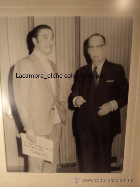 Cine: EXCELENTE AUTOGRAFO ORIGINAL DEL PREMIO NOBLE CAMILO JOSE CELA, ALICANTE AÑO 1974 - Foto 2 - 51152319