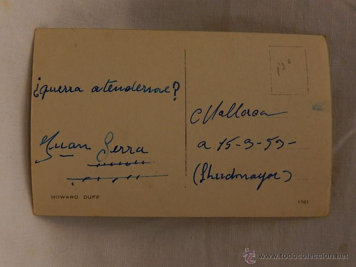 "Cine: Autógrafo.""Howard Duff"". Artista, Actor, Actriz. Cine. Teatro. - Foto 3 - 52752539"