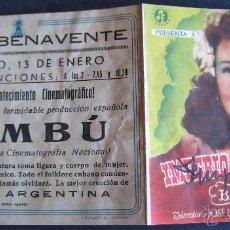Cine - AUTÓGRAFO IMPERIO ARGENTINA SOBRE PROGRAMA DE CINE BAMBÚ - 53850041