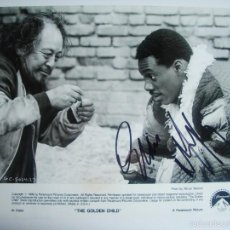 Cinema: EDDIE MURPHY. THE GOLDEN CHILD. CINE. FIRMA AUTOGRAFO ORIGINAL. FOTO GRANDE. Lote 56189057