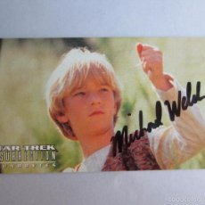 Cine - STAR TREK.INSURRECTION MISSION LOG. CINE. FIRMA AUTOGRAFO DE MICHAEL WELCH. ORIGINAL - 57107233