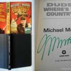 Cine: MICHAEL MOORE. LIBRO FIRMADO A MANO POR EL DIRECTOR MICHAEL MOORE. Lote 60145259