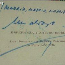 Cine: FELICITACIÓN NAVIDAD 1976 DE ESPERANZA Y ARTURO RIGEL. AUTOGRAFIADA. Lote 62027628