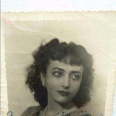 Cine: MARIA FRANCISCA CABALLER - POSTAL FOTOGRAFIA 1950 FIRMADA AUTOGRAFO. Lote 63727751