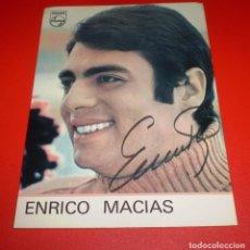 Cine: ENRICO MACIAS AUTOGRAFO.DISCOS EN EXCLUSIVA CON PHILIPS.. Lote 69123649