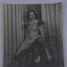 Cine: FOTOGRAFIA ORIGINAL CON AUTÓGRAFO DE ESTRELLITA CASTRO, LAS PALMAS 1946, FOTO MENDOZA, MADRID, GRAN . Lote 72845923