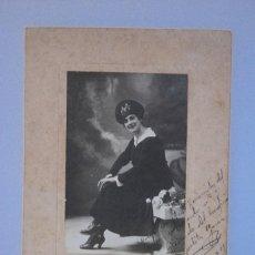 Cine: FOTOGRAFIA ORIGINAL FIRMADA Y DEDICADA POR JULITA GARCIA, ACTRIZ, PALMA 1911. Lote 73733827