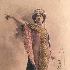 Cine: RA300 TARJETA POSTAL AUTOGRAFO P.P.S.XX 1905/10 ARTISTA ACTRIZ CUPLETISTA ESPAÑOLA LA BELLA OTERO. Lote 79048733