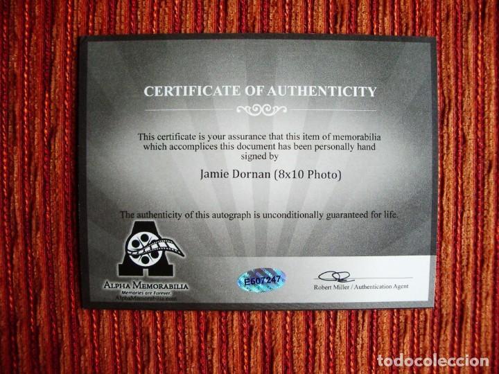 Cine: JAMIE DORNAN 50 SOMBRAS DE GREY CINE PELICULAS FIRMA ORIGINAL CERTIFICADO AUTENTICIDAD - Foto 3 - 79559813