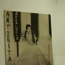 Cine: FOTO FIRMADA ANTOÑITA ANDALUCIA COPLA CUPLE. Lote 80204805