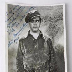 Cine: FOTOGRAFIA CON AUTOGRAFO Y DEDICATORIA MANUSCRITA DE MANOLO MORAN, EN ABRIL DE 1941, FOTO MIDE 17,. Lote 81272580