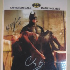Cine: BATMAN , AUTOGRAFO ORIGINAL DE CHRISTIAN BALE & CATHIE HOLMES, 100% ORIGINAL. Lote 89085912