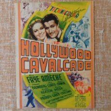 Cine: AUTOGRAPH ALICE FAYE IN THE FILM CAVALCADE, HOLLYWOOD. Lote 89319528