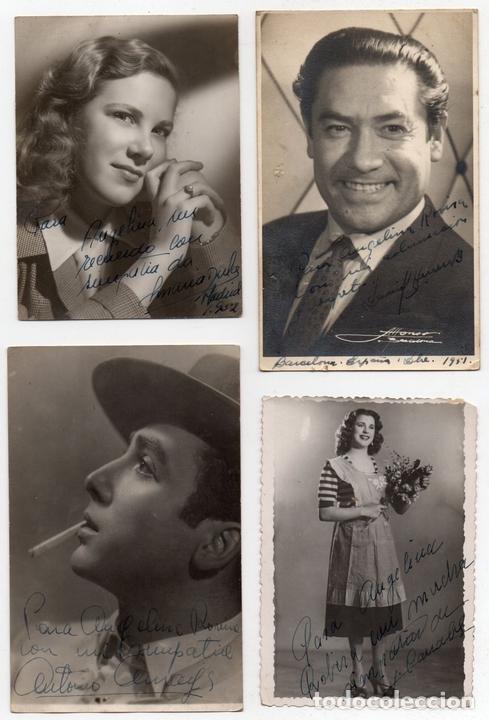 Cine: PS7714 LOTE DE 43 AUTÓGRAFOS DE ACTORES ESPAÑOLES. PAPEL FOTOGRÁFICO. AÑOS 50 - Foto 6 - 89993016