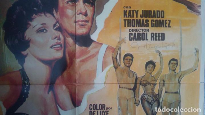Cine: tony curtis y gina lollobrigida autografos en poster original Trapecio 70x100 Curtis - Foto 2 - 90960810