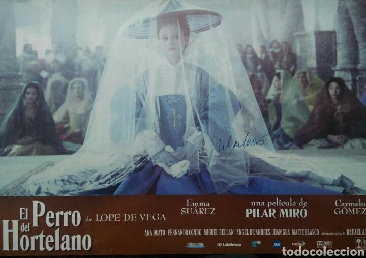 PILAR MIRO AUTOGRAFO EN CARTELERA FILM ORIGINAL (Cine - Autógrafos)