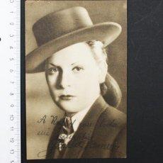 Cine: FOTO PROMOCIONAL AUTOGRAFIADA DE GLORIA ROMERO 1948, DEDICATORIA AUTOGRAFA, AUTOGRAFO. Lote 98390547