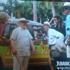 Cine: RICHARD ATTENBOUROUGH & SAM NEIL AUTOGRAFOS EN CARTELERA ORIGINAL JURASSIC PARK 25X30 . Lote 98554455