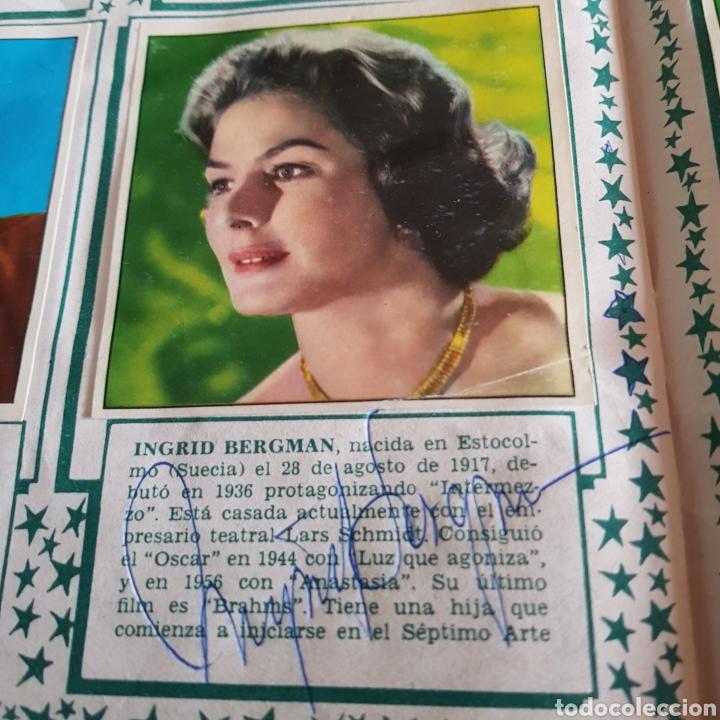 Cine: Autógrafos de Ingrid Bergman y Anthony Quinn en album de cromos Cine foto - Foto 2 - 102297138
