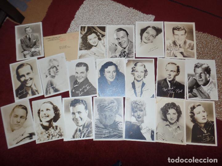 LOTE FOTOS HOLLYWOOD AÑOS 30 Y 40 (Cine - Autógrafos)