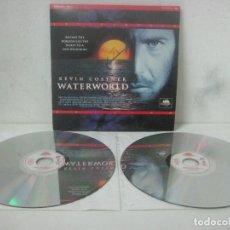 Cine: PELICULA WATERWORLD EN DOBLE LASERDISC FIRMADA A MANO POR EL ACTOR KEVIN COSTNER EN 1995,PIEZA UNICA. Lote 108552011