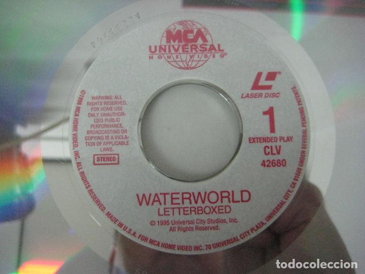 Cine: PELICULA WATERWORLD EN DOBLE LASERDISC FIRMADA A MANO POR EL ACTOR KEVIN COSTNER EN 1995,PIEZA UNICA - Foto 5 - 108552011