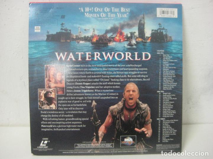 Cine: PELICULA WATERWORLD EN DOBLE LASERDISC FIRMADA A MANO POR EL ACTOR KEVIN COSTNER EN 1995,PIEZA UNICA - Foto 7 - 108552011